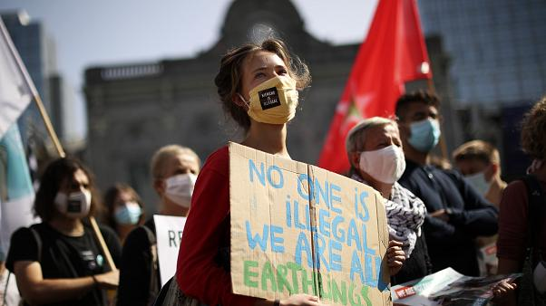 Demonstration in Brüssel