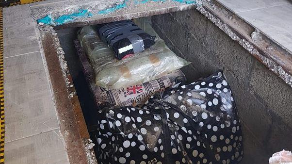 The books were found in a hidden underground compartment