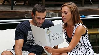 Sergio y Adriana en su nueva casa
