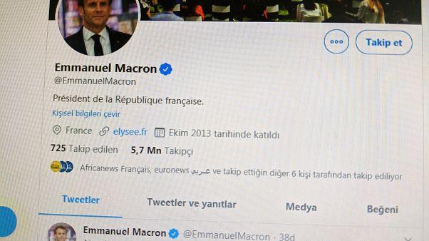 Emmanuel Macron'dan Türkçe mesaj