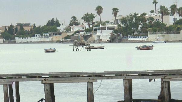 مرفأ بحري في مدينة صفاقس - تونس. 2020/09/11
