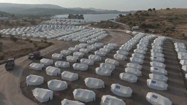 Midilli'de yeni göçmen kampı