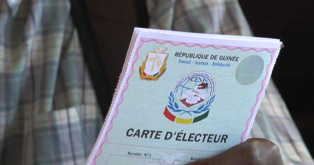 Guinee Distribution Des Cartes D Electeurs Pour Le Scrutin D Octobre Africanews