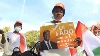 Pro-Ouattara supporters rally In Paris ahead of presidential elections