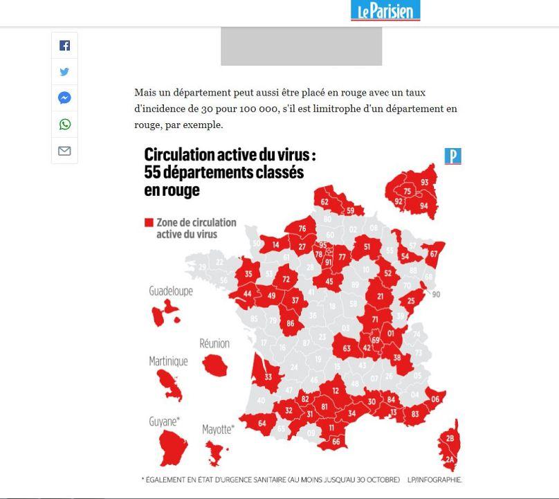 Frankreich Corona Zonen Karte Aktuell