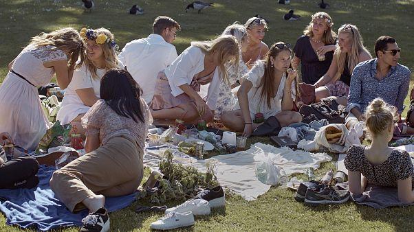 Stockholm im Juni: Mittsommerpicknick