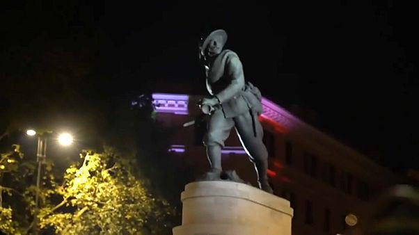 Statua del Bersegliere a Porta Pia Roma