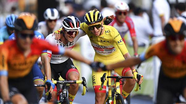 Tadej Pogačar az idei Tour de France bajnoka