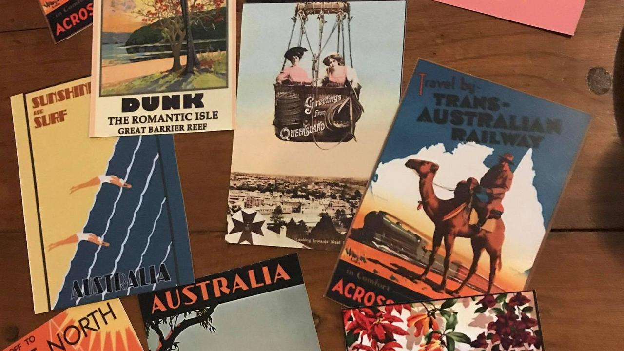 Female travel enthusiasts are creating a sense of travel through a global postcard exchange.