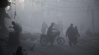 Rus savaş uçaklarının İdlib'e saldırısı