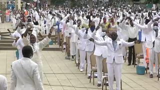 Cerimónia da Igreja Tocoísta, em Luanda