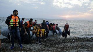 Φωτό αρχείου από πρόσφυγες-μετανάστες στη Λέσβο
