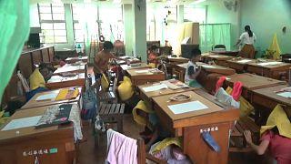ویدئو؛ شبیهسازی زلزله برای تمرین دانشآموزان در مدارس تایوان