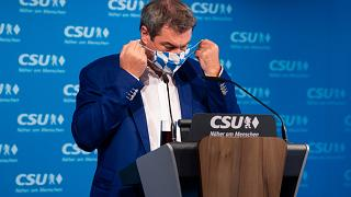 Markus Soder, party chairman and Governor of Bavaria, on Sept 21, 2020.