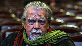 In this Feb.25, 2011 file photo , French actor Michael Lonsdale, awarded for the Supporting Actor, attends prior to the annual Cesar 36th Awards ceremony, in Paris.