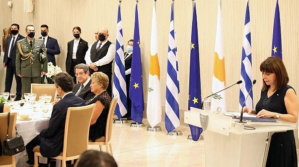 Επίσημο δείπνο προς τιμήν της ΠτΔ από τον Πρόεδρο της Κυπριακής Δημοκρατίας