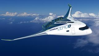 ZEROe is an Airbus concept aircraft running on hydrogen.