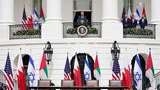 حفل توقيع اتفاقات تطبيع العلاقات مع إسرائيل في البيت الأبيض في واشنطن