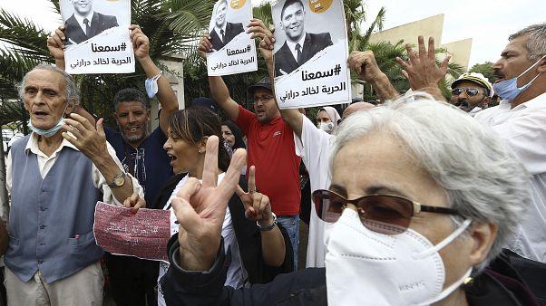 Manifestation de soutien à Khaled Drareni, 8 septembre 2020, Alger.