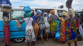 Restrições para conter a Covid-19 em Angola nos transportes públicos