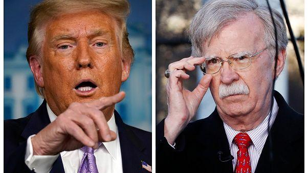 ABD Başkanı Donald Trump ve eski ABD Ulusal Güvenlik Danışmanı John Bolton