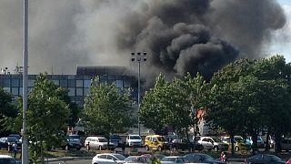 A robbanás füstje Burgaszban is látszott