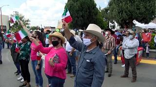 Agricultores en la localidad de Delicias, Chihuahua, México