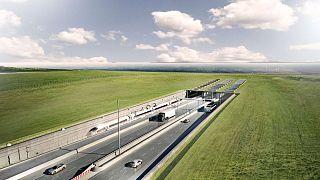 Schaubild des geplanten Tunneleingangs