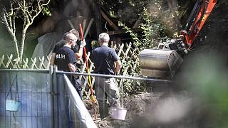 German police searched a garden plot near Hannover, Germany, in July 2020. It is believed to be in connection with the disappearance of Madeleine McCann