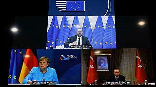 Angela Merkel, Charles Michael ve R.Tayyip Erdoğan