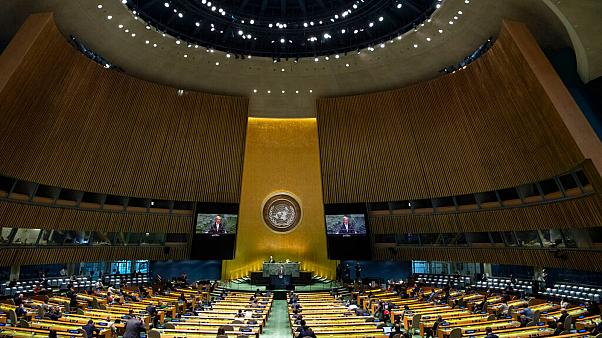 The U.N.'s first virtual meeting of world leaders started Tuesday with pre-recorded speeches from some of the planet's biggest powers, kept at home by the COVID-19 pandemic.