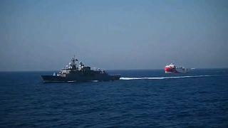 Navi turche in navigazione in Egeo