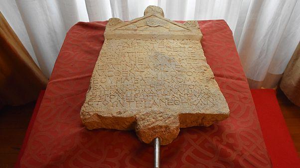 Lidya yazıtı Türkiye'ye getirildi