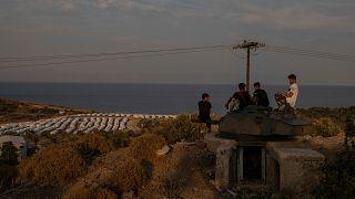 Moria kampı Yunanistan