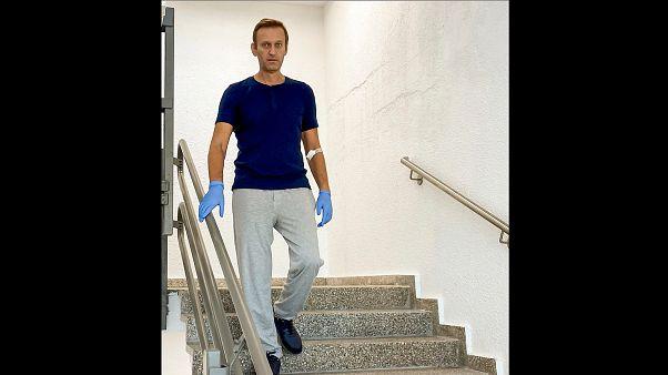 Navalnij kórházból posztolt képe