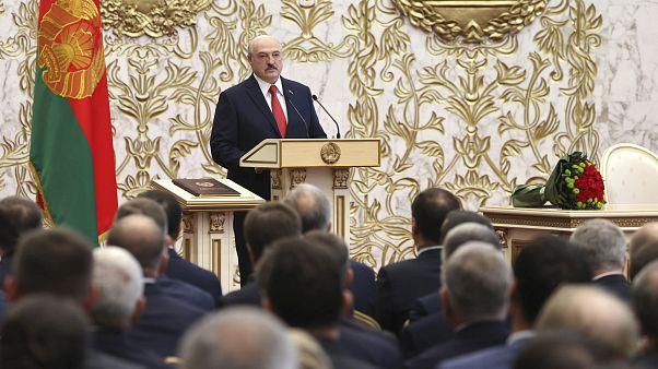 Lukaschenko bei der Amtseinführung in Minsk
