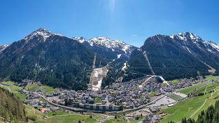 Le village autrichien d'Ischgl, le 23/04/2020