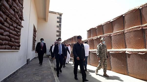Turkey's Defense Minister visits a military base in Tripoli