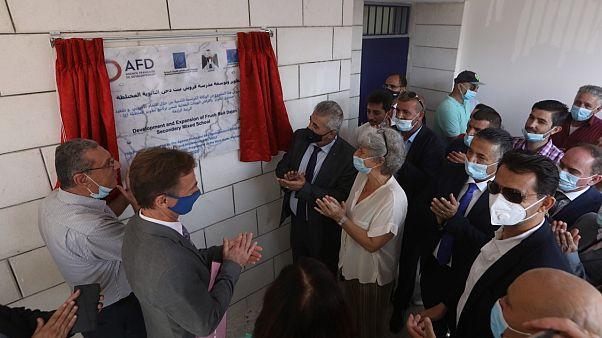 المبنى الجديد لمدرسة فروش بيت دجن الثانوية المختلطة الواقعة في المنطقة ج