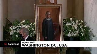 شاهد: جثمان القاضية روث بادر غينسبورغ يُسجّى في المحكمة العليا الأميركية