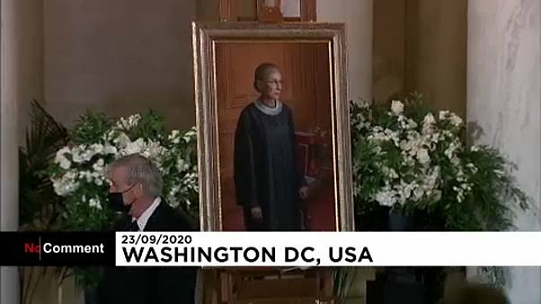 Ginsburg casket arrives at Supreme Court