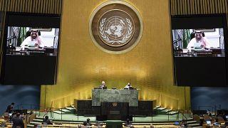 Suudi Arabistan Kralı Selman bin Abdülaziz'în videolu açıklaması BM Genel Kurulu'nda yayınlandı