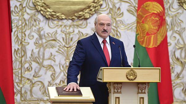 الرئيس البيلاروسي ألكسندر لوكاشنكو يؤدي اليمين، مينسك 23 سبتمبر 2020