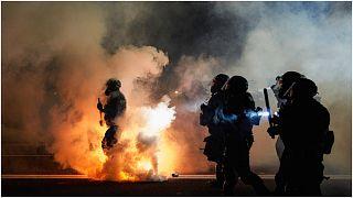 تصدي الشرطة للاحتجاجات في بعض المدن الأمريكية