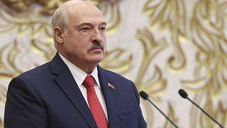 Александр Лукашенко во время инаугурации.