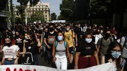 Σε εξέλιξη μαθητικό συλλαλητήριο στο κέντρο της Αθήνας