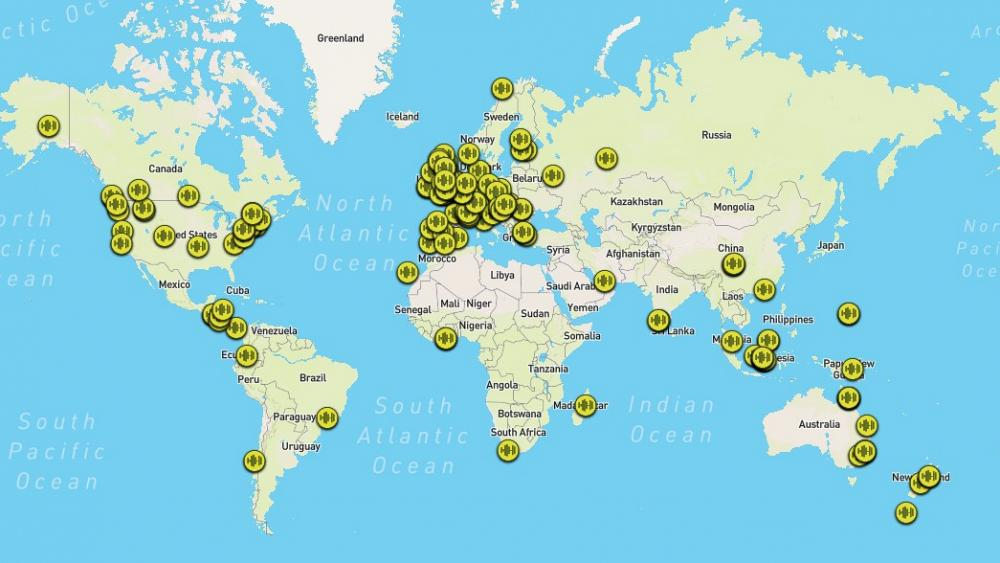 This interactive map allows you to listen to forests around the world