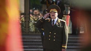 Alexandre Loukachenko lors de sa cérémonie d'inauguration au Palais de l'Indépendance à Minsk, au Bélarus, mercredi 23 septembre 2020