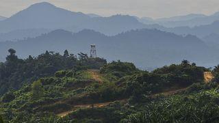 مزارع لاستخراج زيت النخيل في سبل السلام من إقليم آتشيه في إندونيسيا. 2020/03/09
