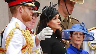 Prinz Harry mit seiner Ehefrau Meghan, 20.10.2018